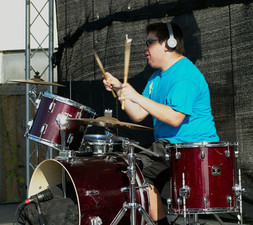 John rocking out on the drums.jpg