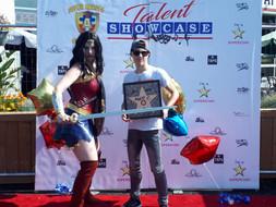 @iammattc with Wonder Woman