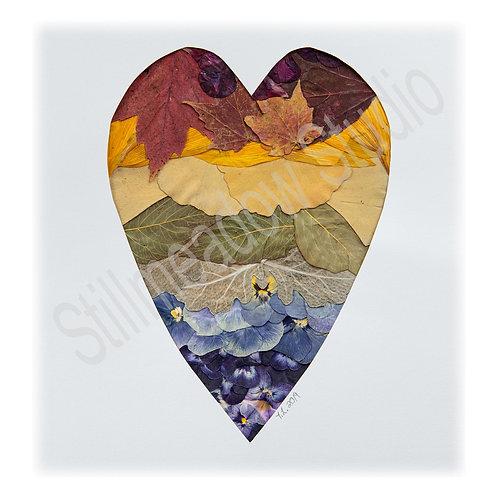 """Nature's Rainbow"" Heart Print"