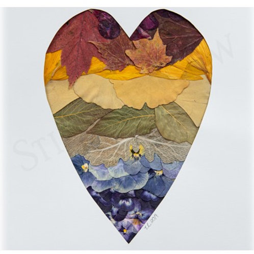 """Nature's Rainbow"" Heart Print"