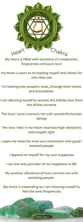 Heart Chakra Affirmations