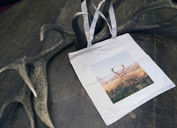 Tote Bag - Red Stag - Plain Handles