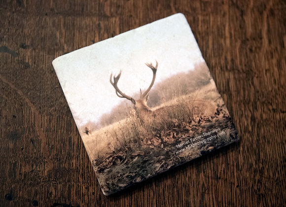 Marble Stone Coaster - Red Deer Stag