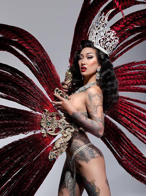 Miss Exotic World Fan Print