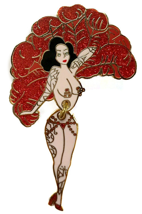 Tattooed Fan Dancer Pin
