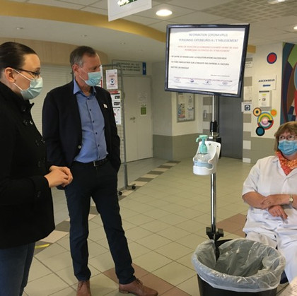 BESANÇON - à la rencontre des bénévoles de la Croix Rouge au centre de soins des Tilleroyes