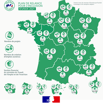 FRANCE RELANCE_ 320 millions d'euros pour soutenir l'inclusion et créer 40 000 nouveaux emplois