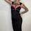 Thumbnail: Black & Pink Rhinestoned Wiggle Dress w/ Full Length Separating Zipper Down Back
