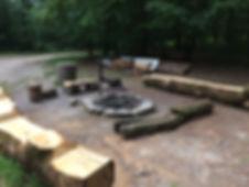 Place de feu 1 Champibûche avec grill pivptant et réglable