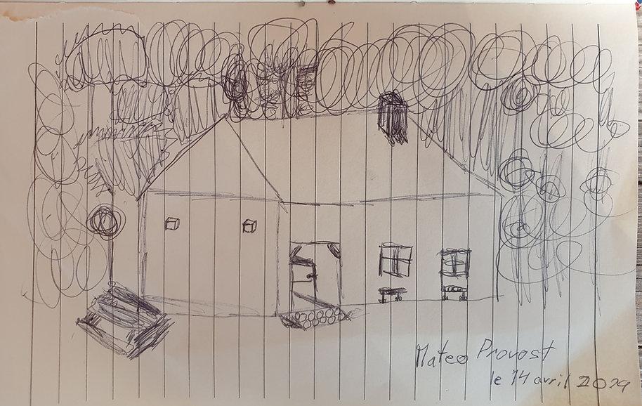 Dessin de la Champibûche, Matéo, 10 ans