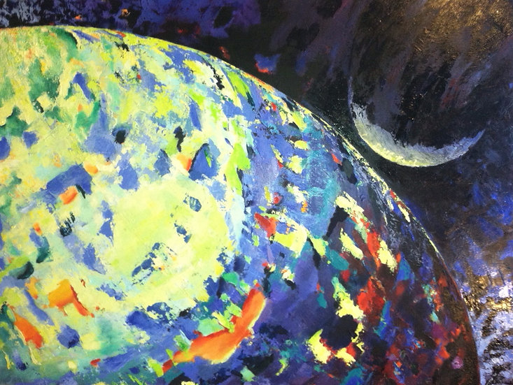 Kiss the Moon (Original Painting)