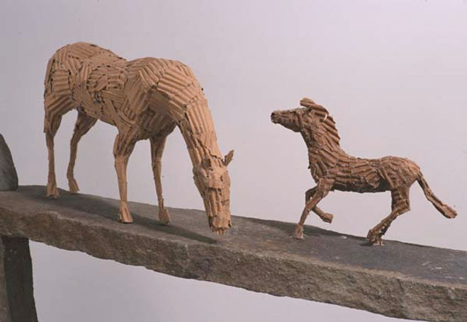 Horse Art, Corrugated Cardboard Art, Alex Uribe