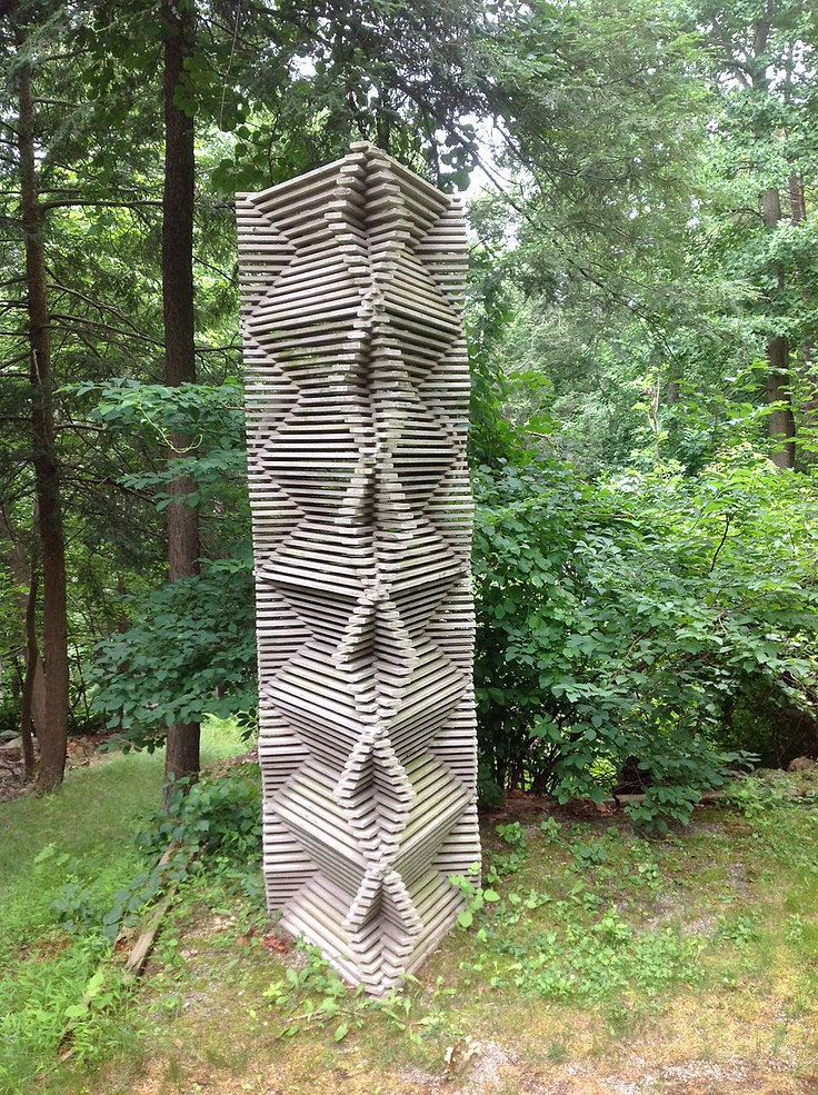 Renovated Art Materials, Outdoor Sculpture, Alex Uribe