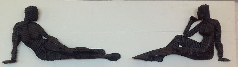 Corrugated Cardboard Figurative sculpture, Alex Uribe