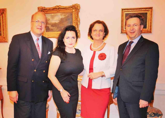 Hungarian ambassador's residence. An evening with very good friends. Discussed the importance of