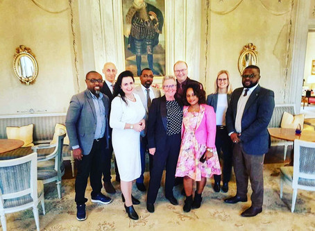 From the high level Gabon week and visit to Sweden. Here together with the President Family of Gabon