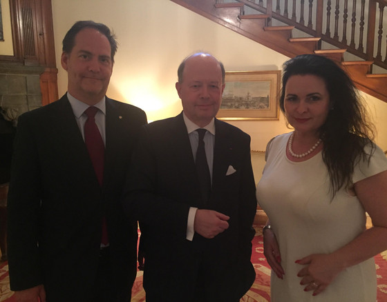Tonight. To bid Farewell but friends forever - the Ambassador of France H.E. Mr Jacques Lapouge. An