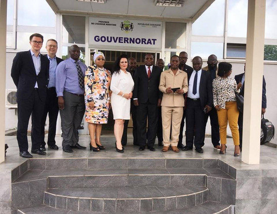 Africa, Gabon. Yesterday's visit together with the government of Gabon, the Governor of Port-Gentil