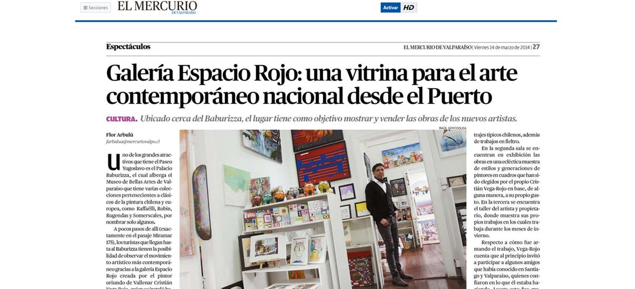 Galería Espacio Rojo, una vitrina para el arte contemporáneo nacional desde el Puerto