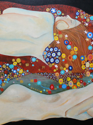 Cuatro mujeres (Inspirado en Gustav Klimt)