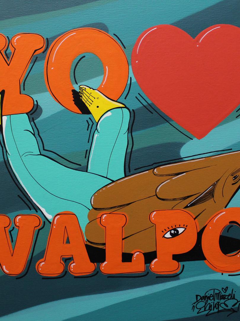 """""""Yo <3 Valpo"""" 50x50"""