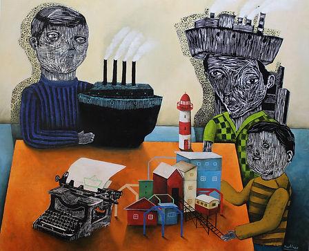 galería de arte, santiago, valparaíso, santiago de chile, Bernardo Martinez, arte elegante, arte naif