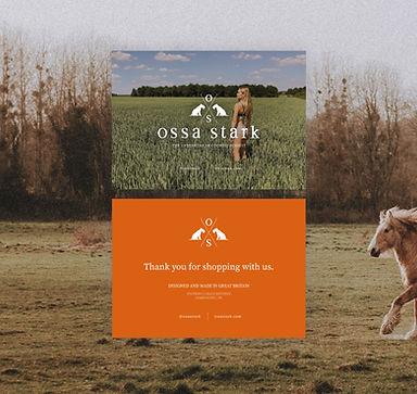 Ossa Stark Postcard Design