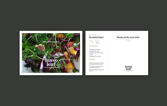 Lusso Leaf Menu Cards