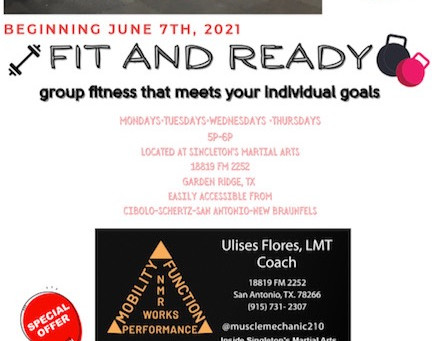 CHECK OUT OUR NEW FITNESS CLASS STARTING JUNE 7TH!