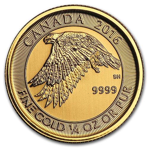 1/4 Oz. Gold Canadian Gyrfalcon Coin