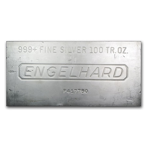 100 Oz. Engelhard Silver Bar