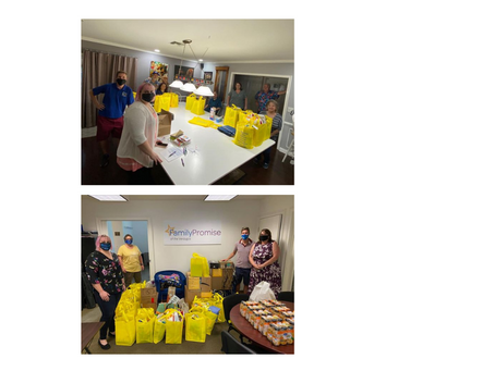 BURBANK SUNRISE ROTARY PROVIDES PEACE BAGS