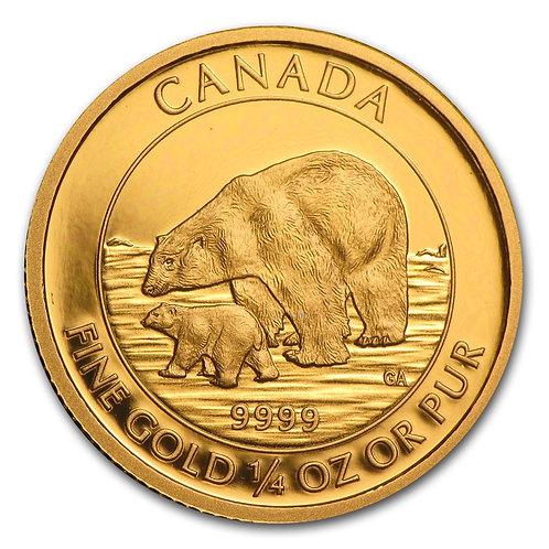 Gold Canadian Polar Bear & Cub