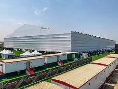 UFC Temporary Venue Roof structure Duabi, Abu Dhabi, Saudi Arabia