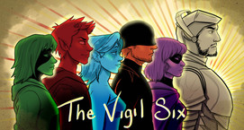The Vigil Website banner, Photoshop  January 2019