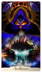 Part of a project to create a deck of Major Arcana cards for The Vigil group, Photoshop  Febuary 2019