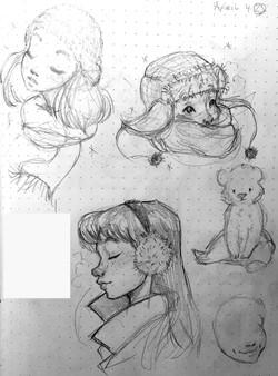 Winter Sticker Sketches 1 2019