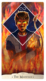 Part of a project to create a deck of Major Arcana cards for The Vigil group, Photoshop  September 2018