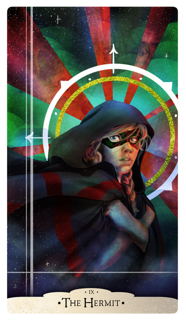 Part of a project to create a deck of Major Arcana cards for The Vigil group, Photoshop  December 2018