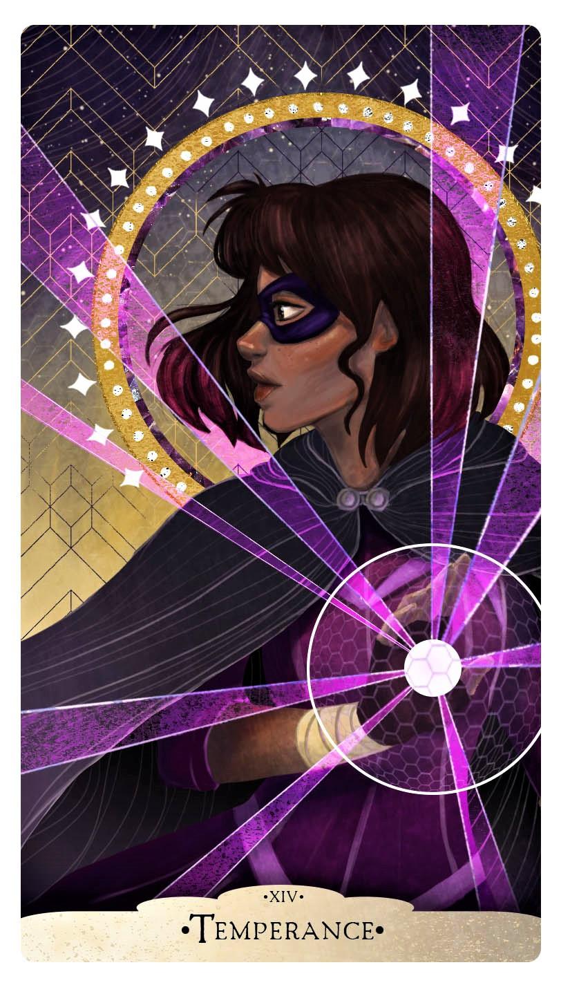 Evie Temperance Tarot Card