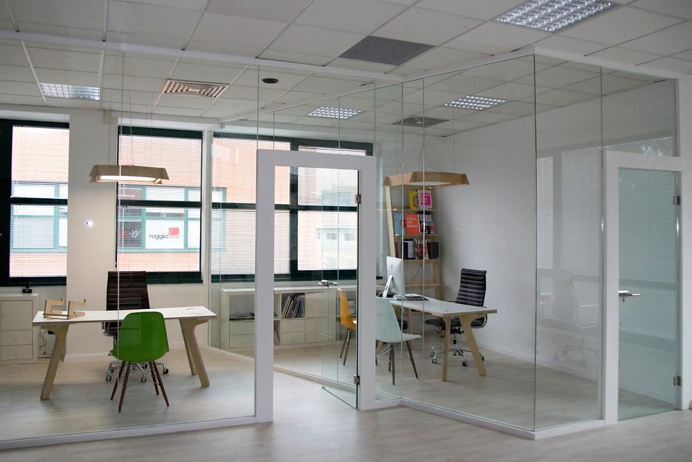 bright colour furniture in office