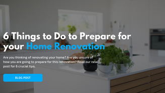6 Things to Do to Prepare for your Home Renovation