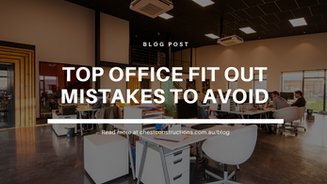 Top Office Fit Out Mistakes To Avoid
