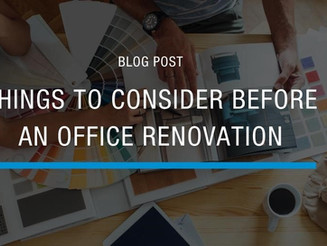 Things to Consider Before an Office Renovation
