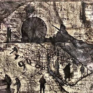 Título: La rueda de la fortuna Año:2020 Técnica: Collage, técnica mixta Dimensiones: 13x20cm