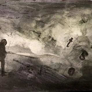 Título: Resultado del insomnio Año:2020 Técnica: Collage, tecnica mixta Dimensiones: 6.5x9cm