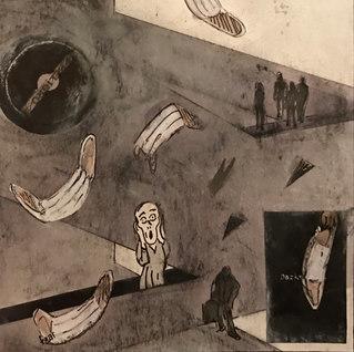 Titulo: Los desobedientes en otoño Año: 2020 Técnica: Collage, técnica mixta Dimensiones: 18x15cm