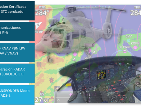 Soluciones de Cielo Único Europeo para helicópteros SA-365N, SA-365N1, AS-365N2, AS-365N3