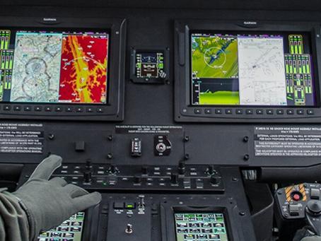 Garmin incluye la capacidad IFF Modo 1 y 2 para los sistemas integrados en aeronaves militares.
