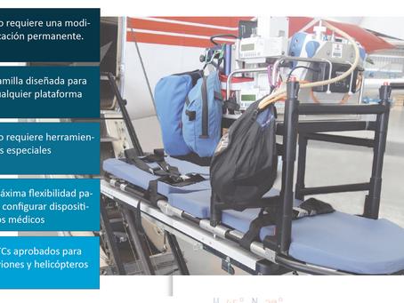 MEDICALIZACIÓN AERONAVES. Camillas para una adaptación rápida en aeronaves.